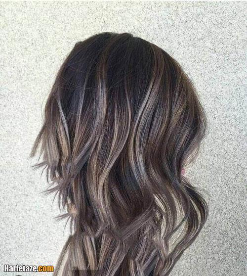 رنگ موی دودی زیتونی هایلات