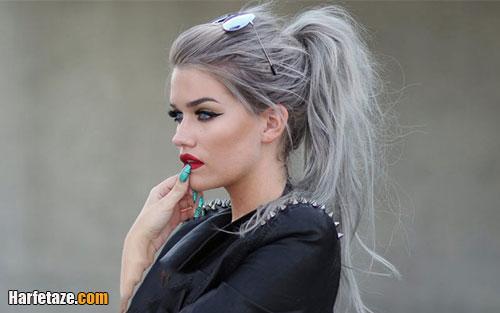 رنگ مو خاکستری بلوند و نقره ای