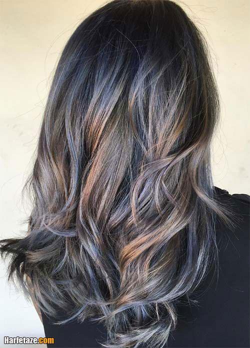 رنگ مو دودی امبره