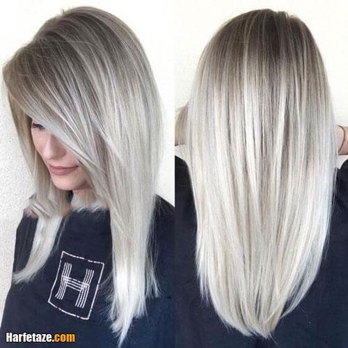 انواع رنگ مو خاکستری و دودی جدید زنانه و دخترانه 2021 - 1400 + تصاویر