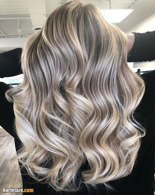 ترکیب رنگ موی خاکستری و کنفی