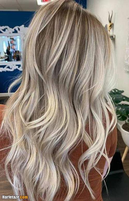 فرمول ترکیب رنگ موی بلوند خاکستری