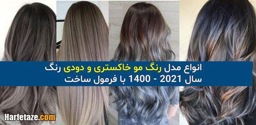 50 مدل رنگ مو خاکستری و دودی جدید زنانه و دخترانه 2021 - 1400 + تصاویر