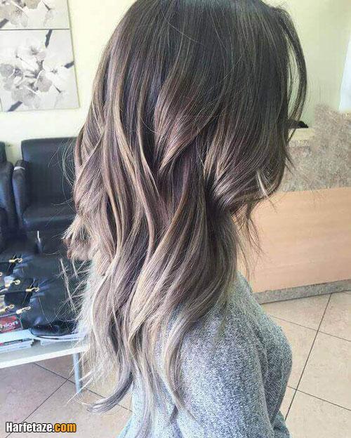 انواع رنگ مو خاکستری و دودی جدید با مش
