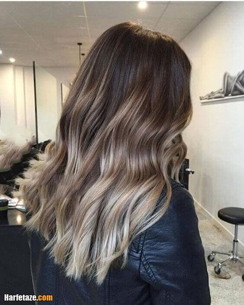 رنگ مو خاکستری دودی روشن بلوند و نسکافه ای
