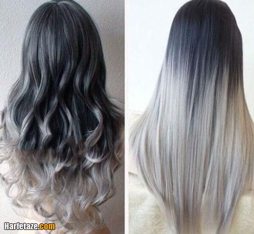 انواع رنگ مو خاکستری و دودی جدید دخترانه 2021