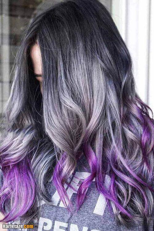 ترکیب رنگ موی خاکستری فانتزی