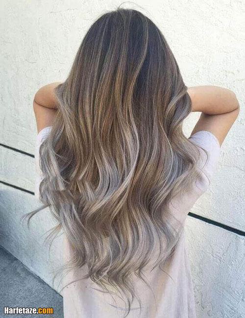 رنگ موی بلوند دودی طلایی