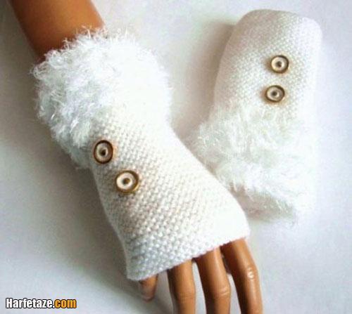 آموزش بافتن ساق دست پرزدار با دو میل