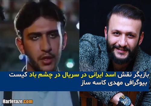 بیوگرافی بازیگر نقش اسد ایرانی در سریال در چشم باد