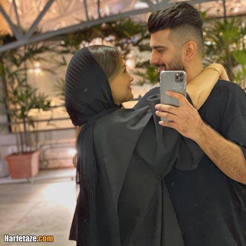 ملینا تاج و همسرش