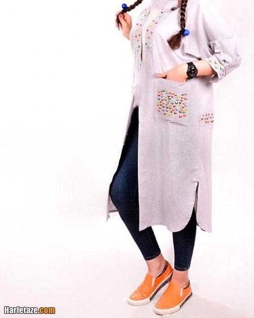 مدل مانتو دخترانه نخی برای عید نوروز 1400