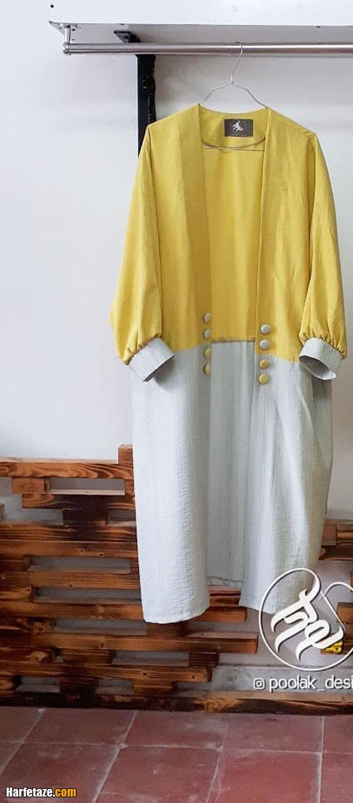 مدل مانتو دخترانه خاکستری برای عید نوروز 1400