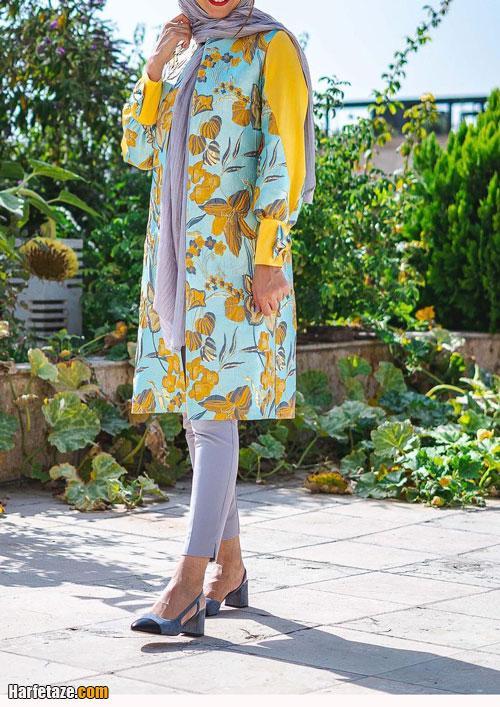مدل مانتو عید گلدار 1400