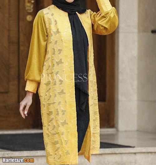 مدل مانتوی گیپور و حریر برای عید
