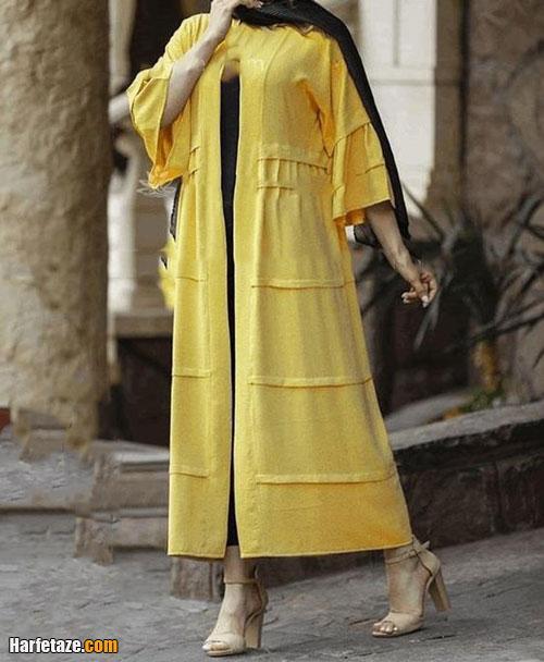 تصاویر مدل های جدید مانتو زرد دخترانه برای عید 1400