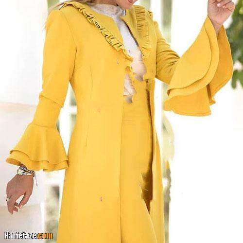 کالکشن جدید و شیک از مدلهای مانتوی دخترانه رنگ سال 2021