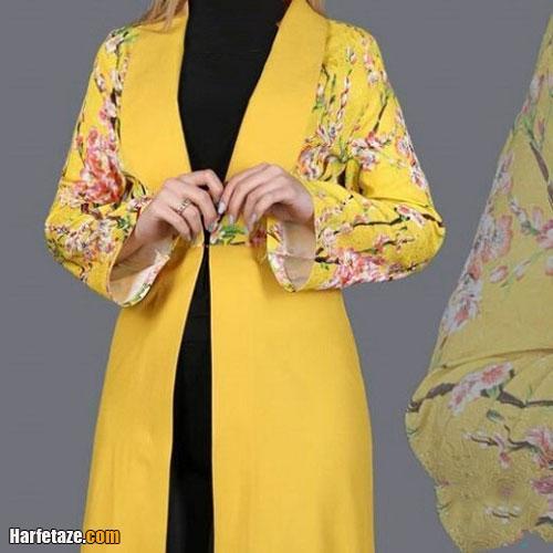 انواع جدیدترین مدل های مانتو زرد و لیمویی مجلسی و اسپرت شیک 2021 – 1400