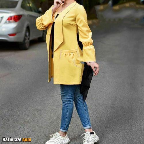 انواع مانتو، پانچ و رویه زنانه ۱۴۰۰ زرد و لیمویی