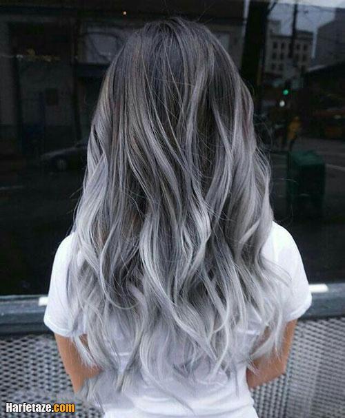 عکسی از رنگ موی خاکستری و دودی برای عید نوروز 1400