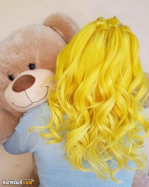 مدل رنگ مو زرد و طلایی برای عید