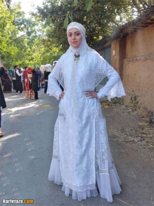 مونا عبداللهی بازیگر شیرازی نقش اصلی سریال دره گلابتون