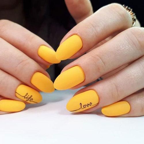 طراحی ناخن فانتزی دو رنگ خاکستری زرد