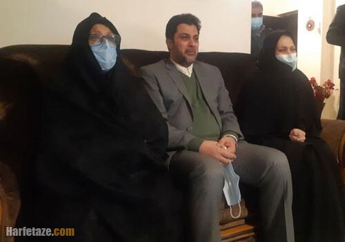 عکس همسر و فرزندان شهید خلبان بیرجند بیگ محمدی