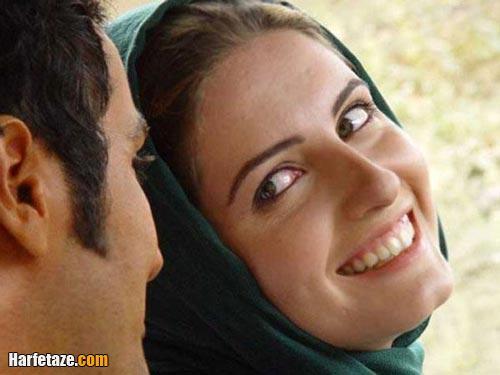 خزر معصومی و همسرش