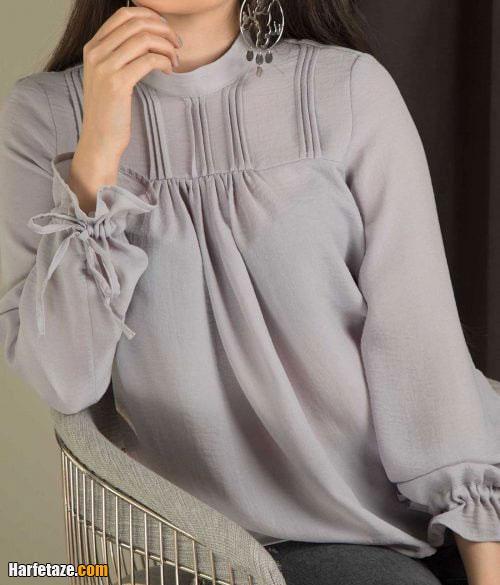 انواع جدیدترین مدل شومیز خاکستری زنانه و دخترانه 2021 - 1400 اسپرت و مجلسی
