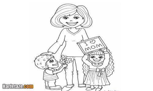 ایده هایی برای کشیدن نقاشی روز مادر