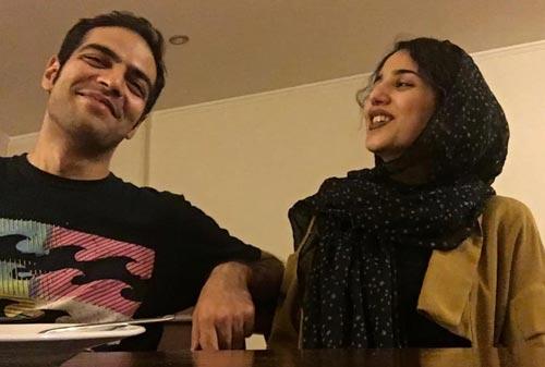 سپهر حیدری نژاد و همسرش