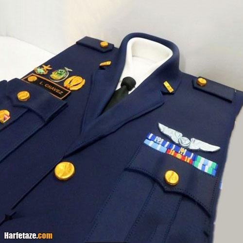 کیک تبریک روز نیروی هوایی ارتش به همسر