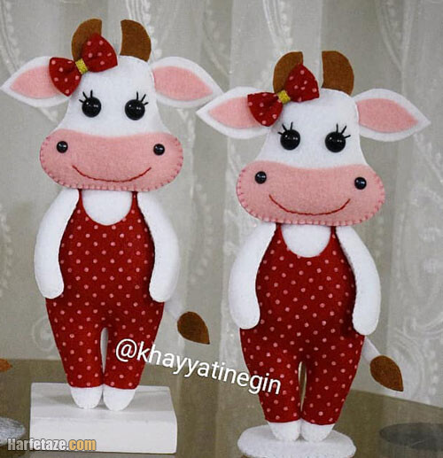 مدل عروسک نمدی گاو برای هفت سین