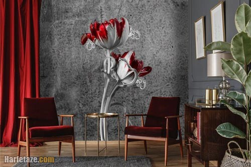کاغذ دیواری خاکستری 1400