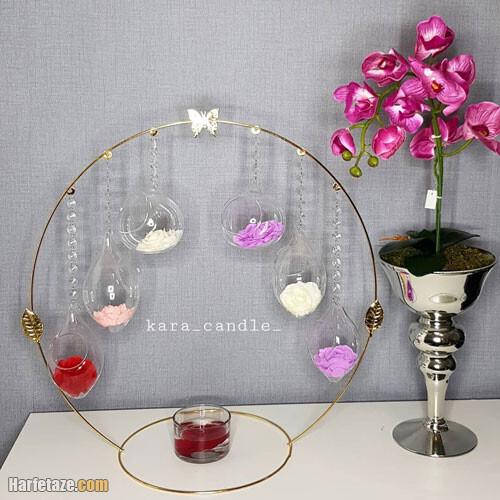 مدل تزیین هفت سین با گوی شیشه ای با کریستال های جذاب