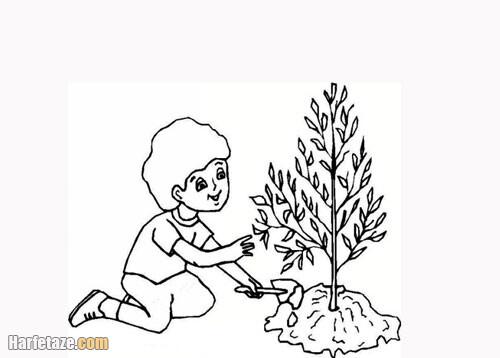 آموزش نقاشی روز درختکاری