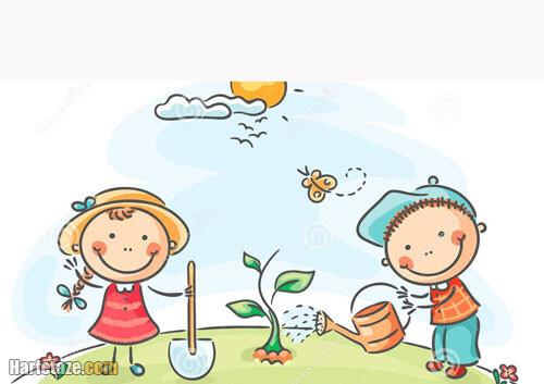 دانلود رنگ آمیزی درخت برای بچه ها
