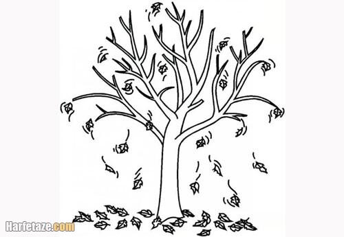 طرح نقاشی کاشتن نهال برای کودکان