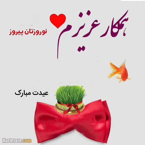 جملات و متن تبریک عید نوروز به همکار با عکس نوشته جدید + عکس پروفایل