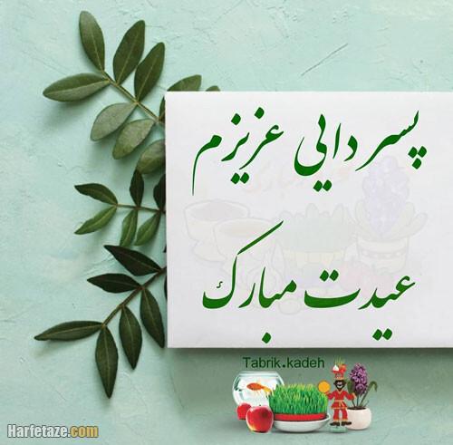 عکس نوشته و متن تبریک سال نو و عید نوروز به پسردایی و دختردایی