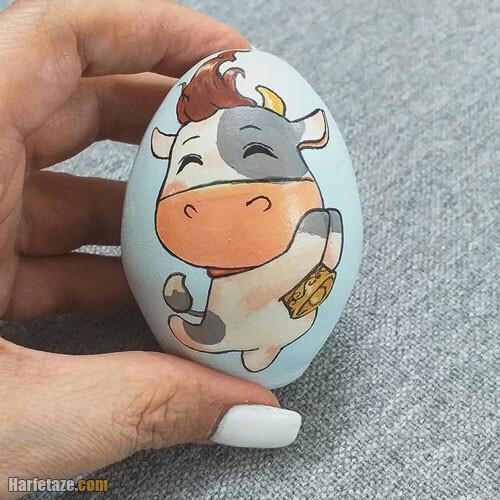 مدل تخم مرغ گاو برای عید نوروز 1400