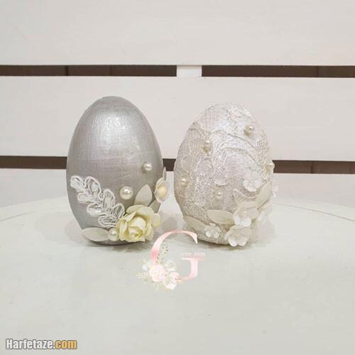 مدل تزیین تخم مرغ رنگ سال 1400
