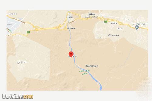 آدرس و کروکی و نقشه روستای سنجریان اطراف تهران