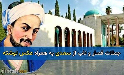 جملات قصار و ناب از سعدی به همراه عکس نوشته 1400