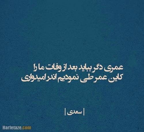 عکس نوشته جملات سعدی 1400