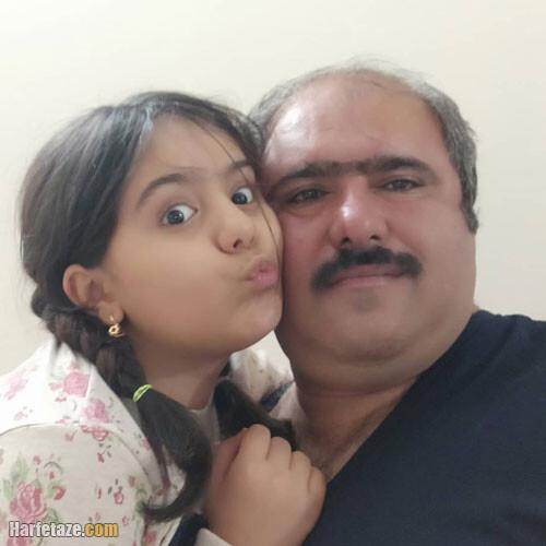 عکس همسر واقعی کاظم نوربخش بازیگر نقش سلمان در نون خ