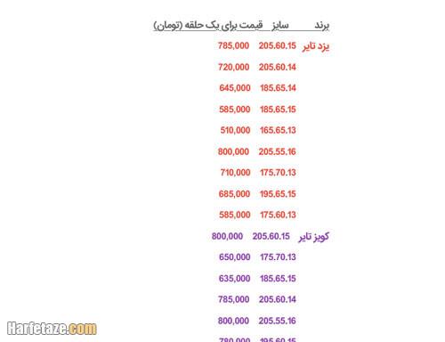 قیمت لاستیک دولتی در سال 1400