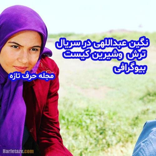 نگین عبداللهی بازیگر نقش سیما در سریال ترش شیرین کیست؟ + اینستاگرام