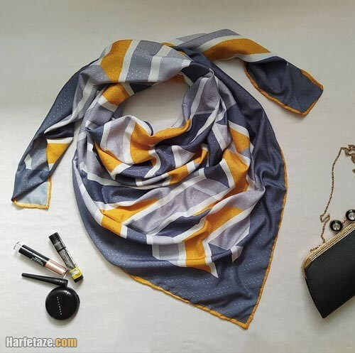 روسری خاکستری زرد 1400رر